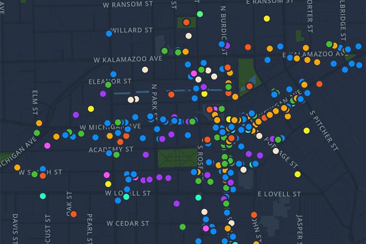 Downtown Kalamazoo Interactive Map